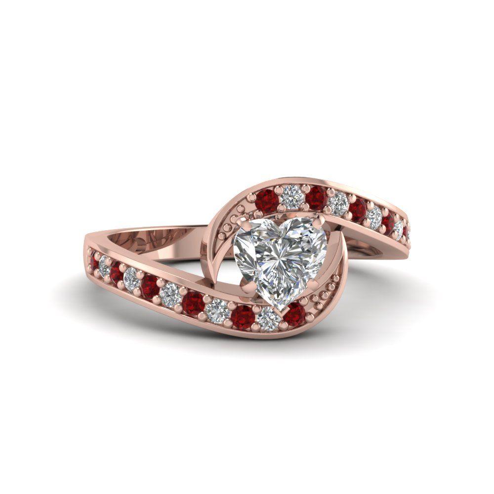 Classic swirl ring white gold ring and round cut diamond