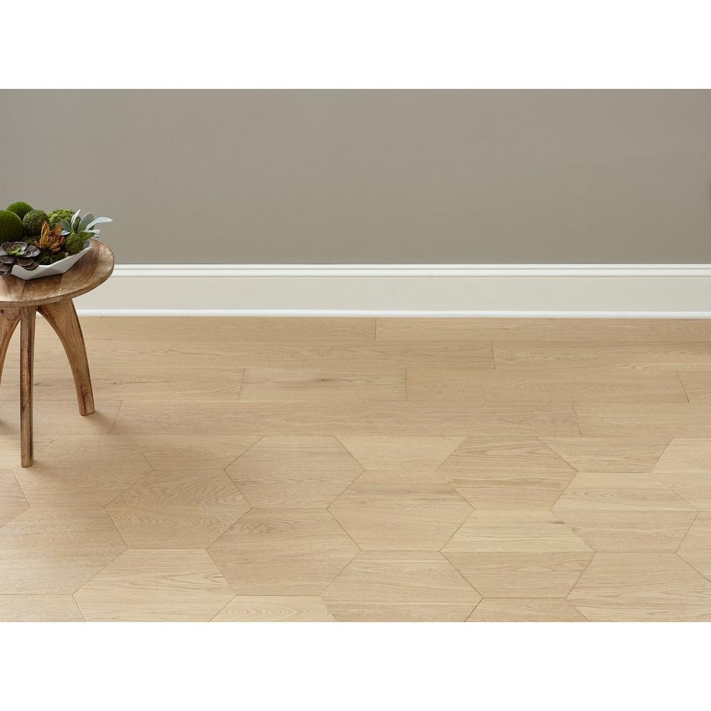 Midtown Light Oak Wire Brushed Hexagon Engineered Hardwood In 2020 Engineered Hardwood Engineered Wood Floors Light Oak