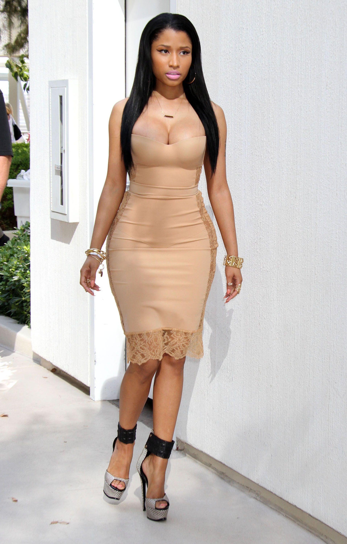 dfb9c7cac7d Nicki Minaj wears the La Perla ShapeAllure petticoat dress ...