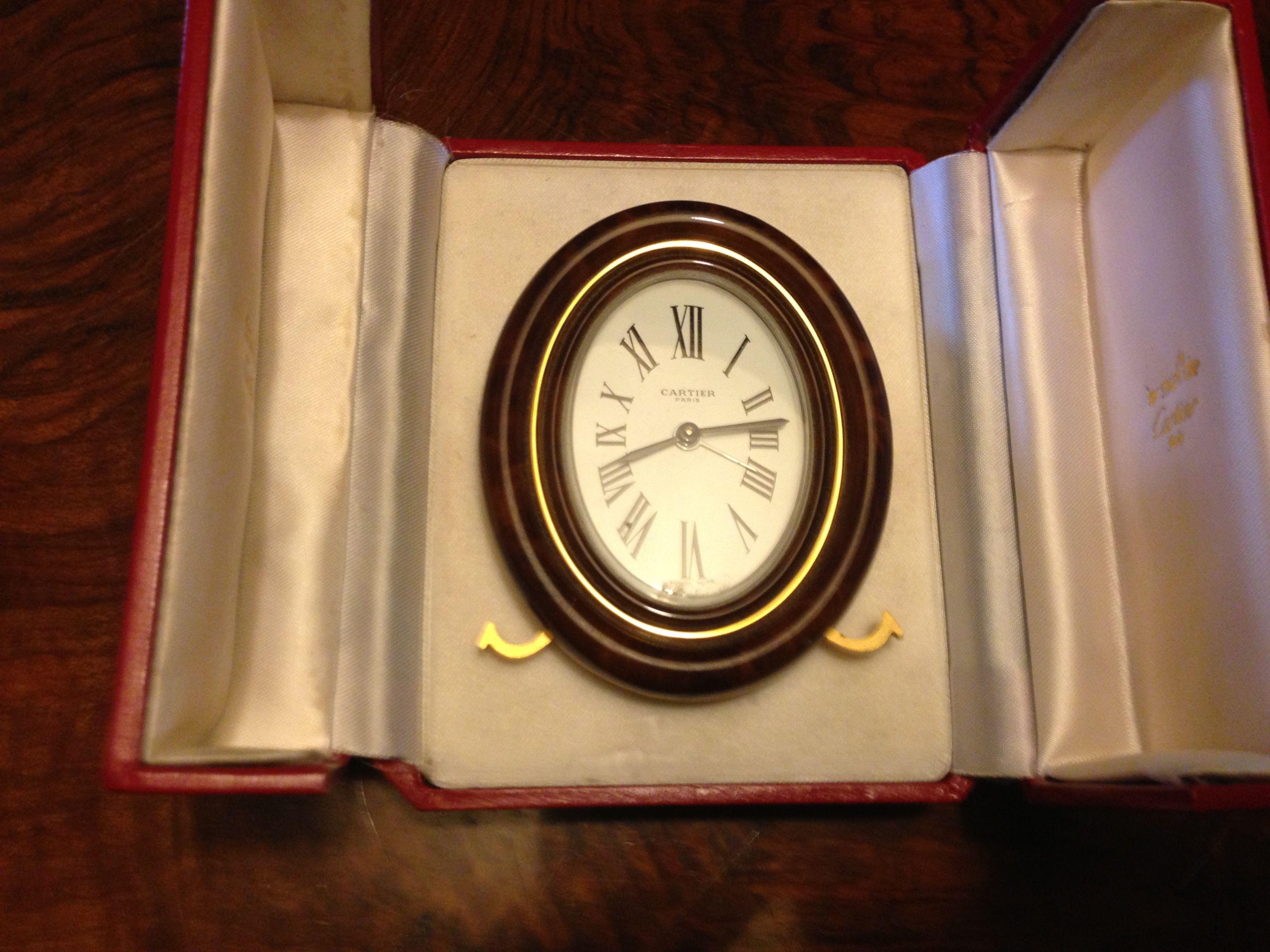 Cartier original desk clock 70s in original box rare and branded cartier original desk clock 70s in original box amipublicfo Images