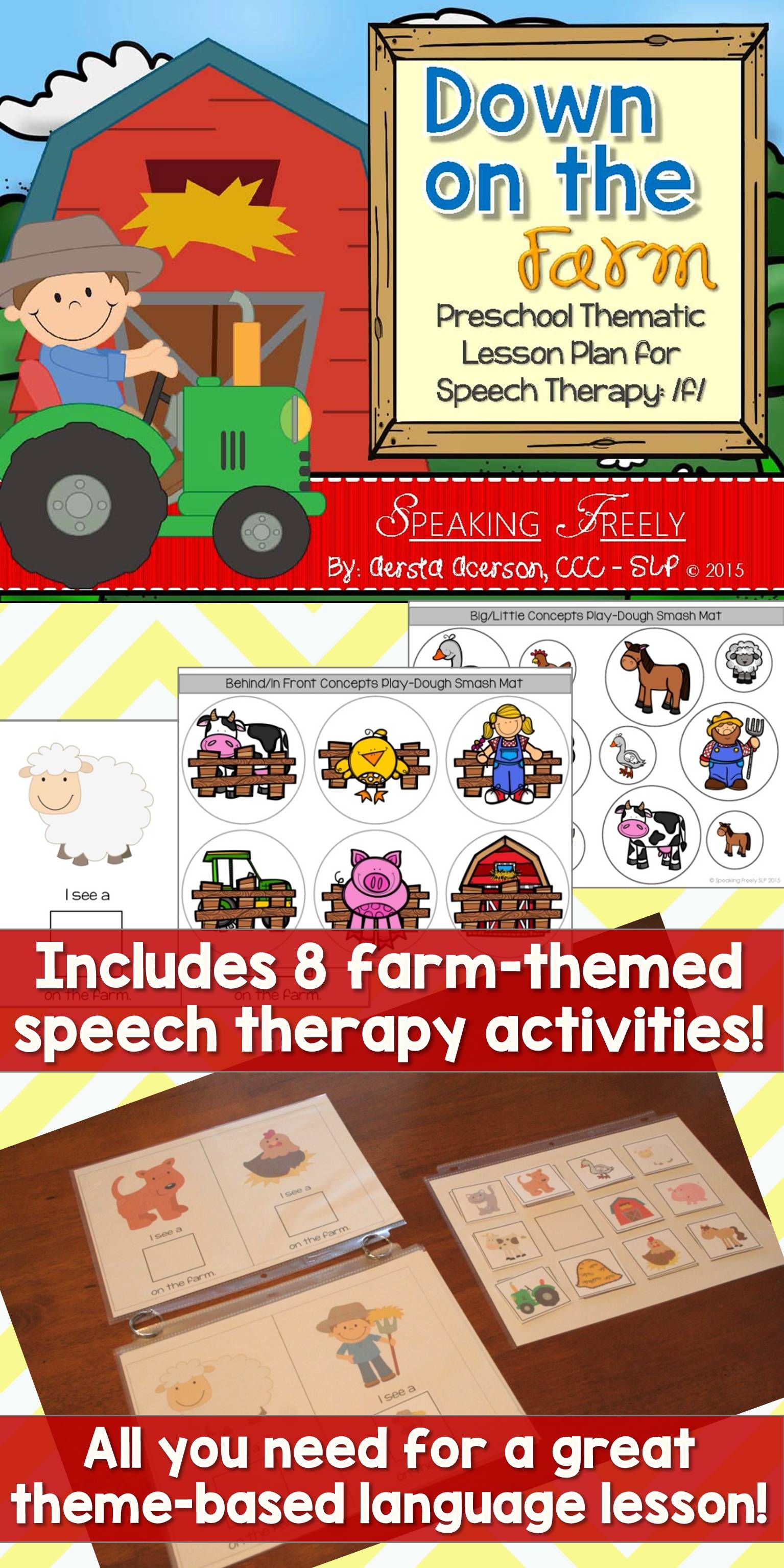 Preschool Language Lesson Plan For Speech Therapy On The Farm