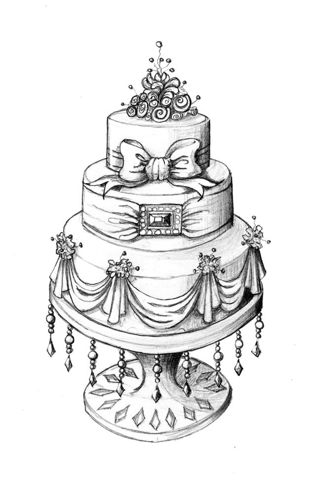 I Wish Could Sketch Like This Wedding Cake Ilrations