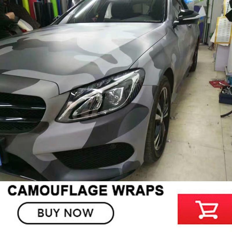 Black Gray Camouflage Vinyl Car Wrap Film Camo Car Sticker Motorcycle Bike Wraps Bubble Free 1 52x30m Roll Camo Car Car Wrap Car