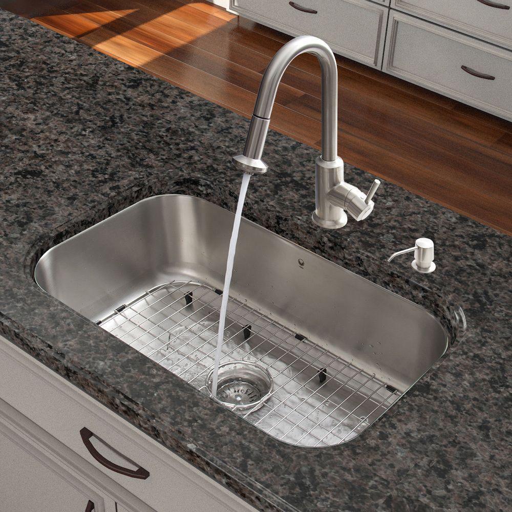 Vigo All In One 30 Inch Undermount Stainless Steel (Silver) Kitchen