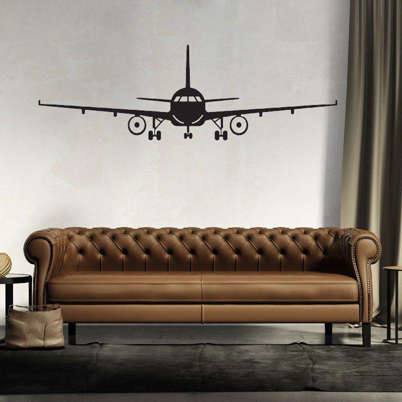 Grote Muurstickers Woonkamer.Goedkope Grote Vliegtuig Muursticker 3d Home Decor Vliegtuigen Art