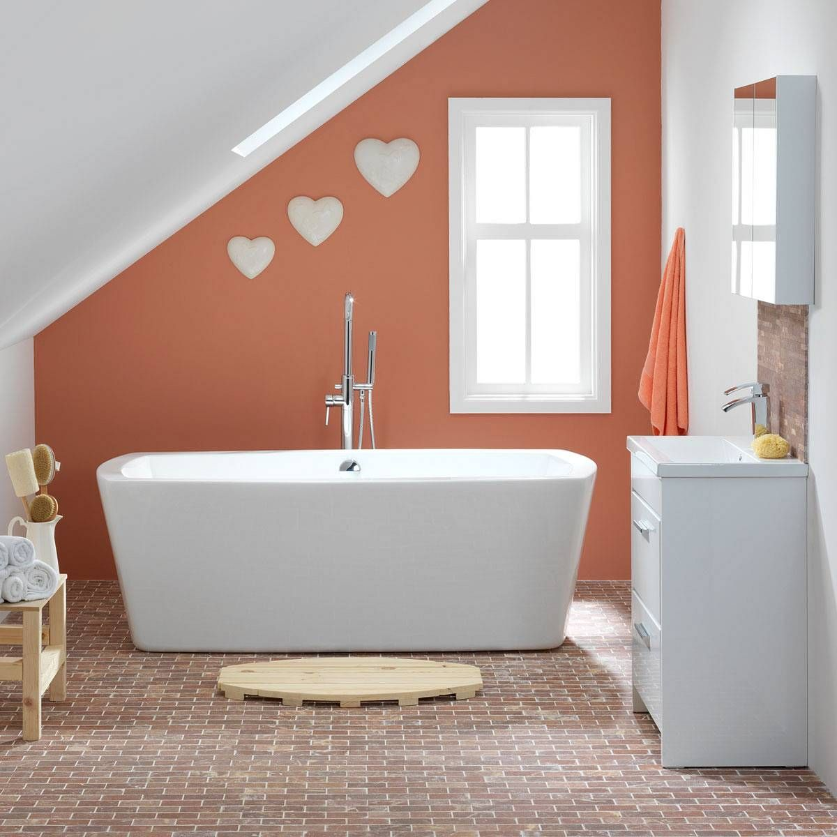 Cute Wall Hearts  Bedroom Ideas  Pinterest  Roll Top Bath Inspiration Cute Small Bathroom Ideas Design Ideas