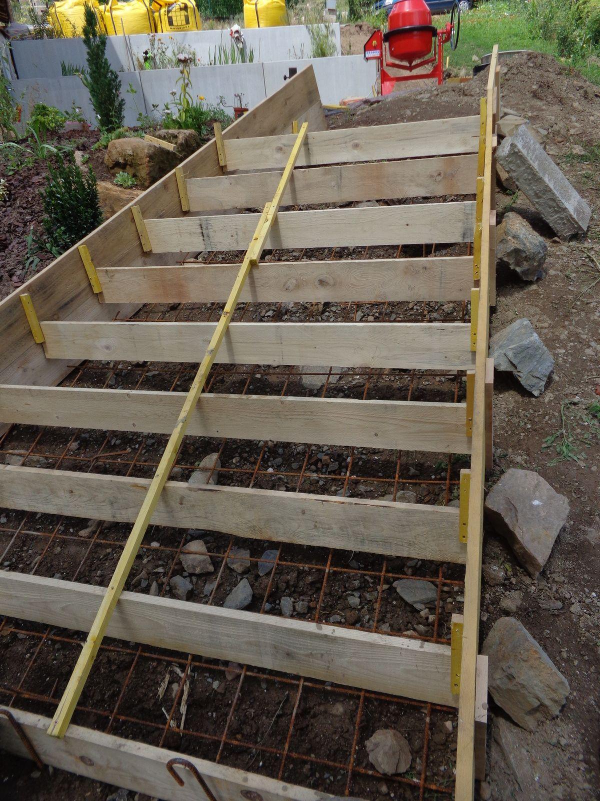 Exterieurs Escalier Renovation D Une Maison Du Beaujolais Escalier Exterieur Beton Escalier De Jardin Coffrage Escalier