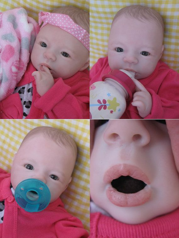 pretty nice 527f9 812d2 OPEN MOUTH reborn baby girl Holds full by simplysweetbundles ...