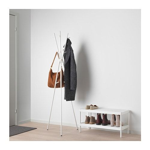 Ikea Ekrar White Hat And Coat Stand Hat Coat Stand Coat Stands Ikea