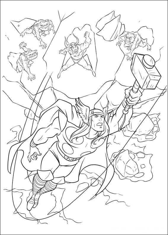 Ausmalbilder Thor Ausmalen Ausmalbilder Coloring Pages Avengers Coloring Pages Avengers Coloring