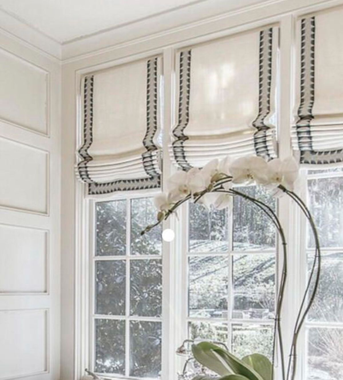 The Beauty Of Roman Shades Is Flexibility With Fabric And Their