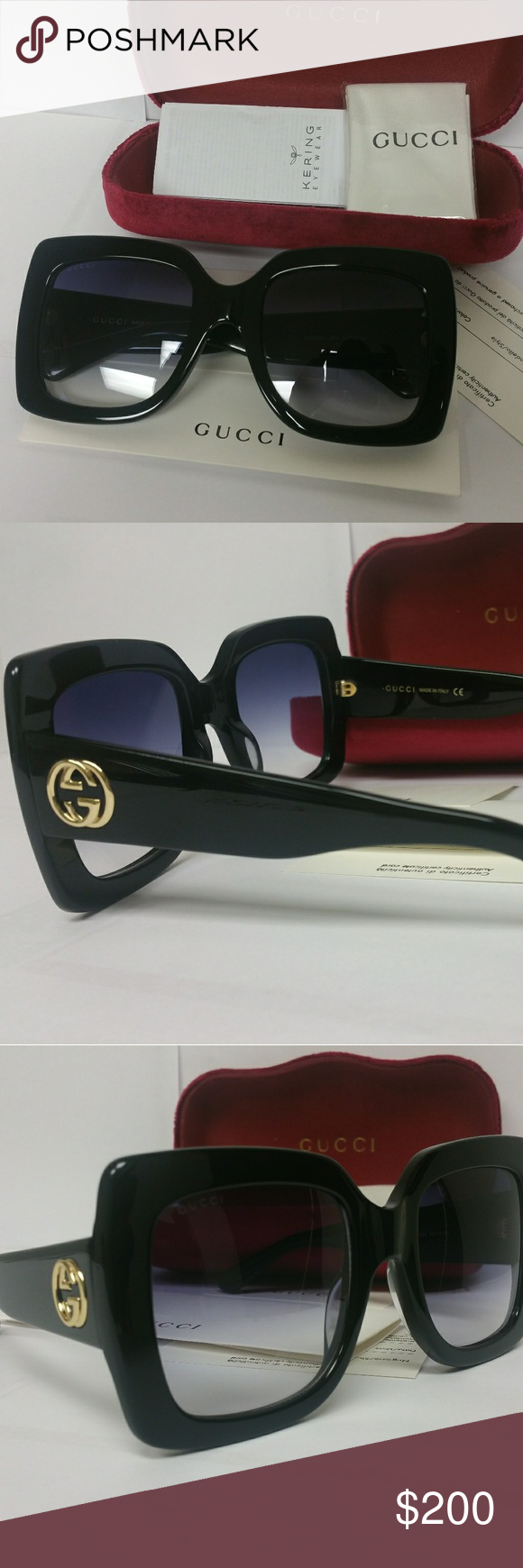 ddd7e1b748a6 Gucci Women's Sunglasses model GG0083S Gucci Women's Sunglasses model-  GG0083S-001 55 Comes with full package 100% Authentic GUCCI Tortoise large  Frame.
