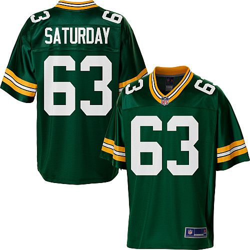 Nfl apparel · Men s Pro Line Green Bay Packers Jeff Saturday Team Color  Jersey 4d8eecb81