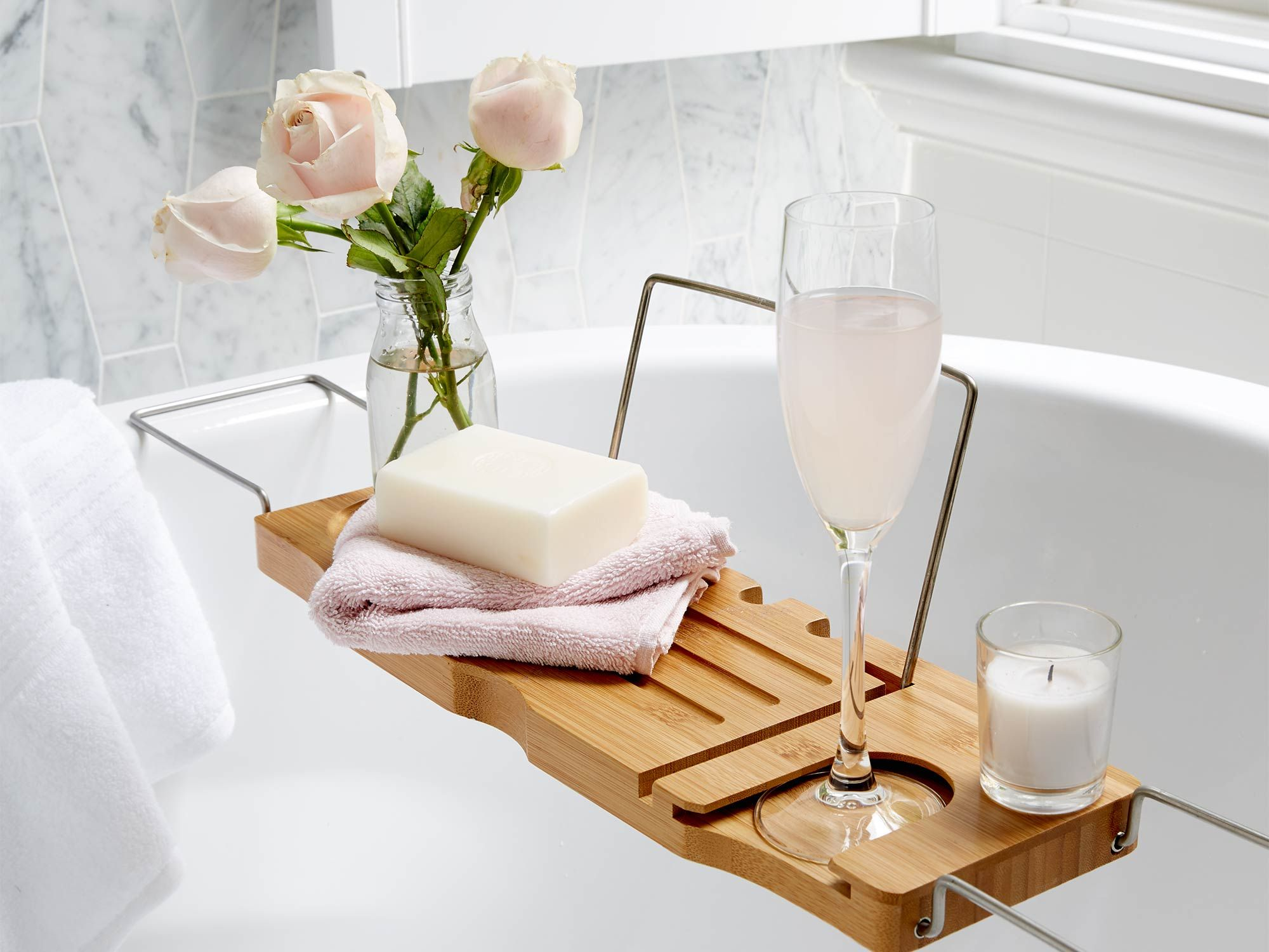 In love with the Kmart Bath Caddy!  Kmart bathroom, Kmart decor