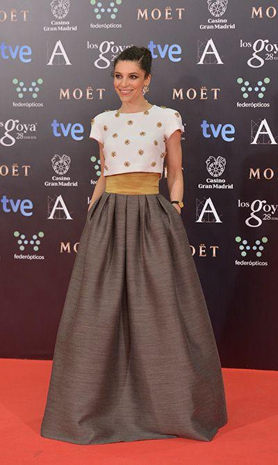 La actriz Irene Visedo eligió un estilismo muy favorecedor para los Premios Goya. Toda la información en www.mujerespacio.com