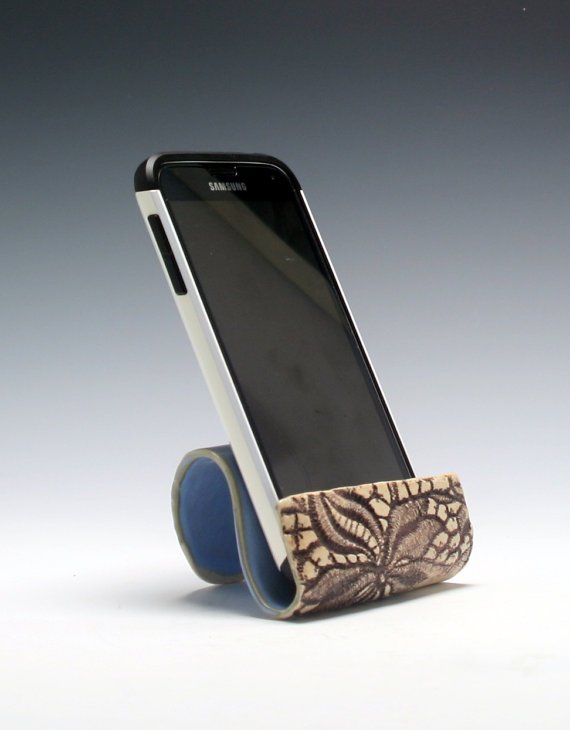 Ceramic cell phone holder business card holder sponge holder ceramic cell phone holder business card holder by pcanpotter colourmoves