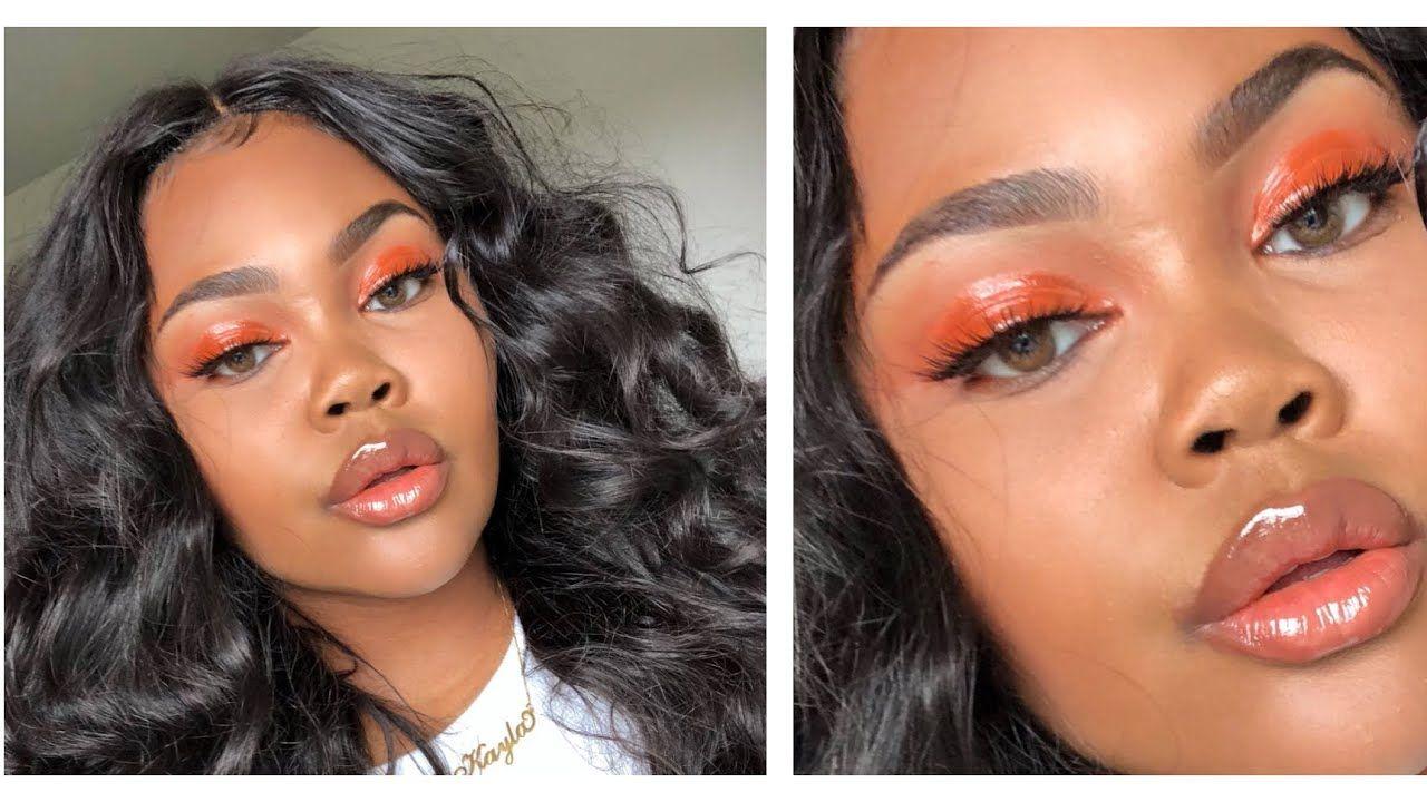 Glossy Orange Spring Makeup Tutorial Makeup tutorial