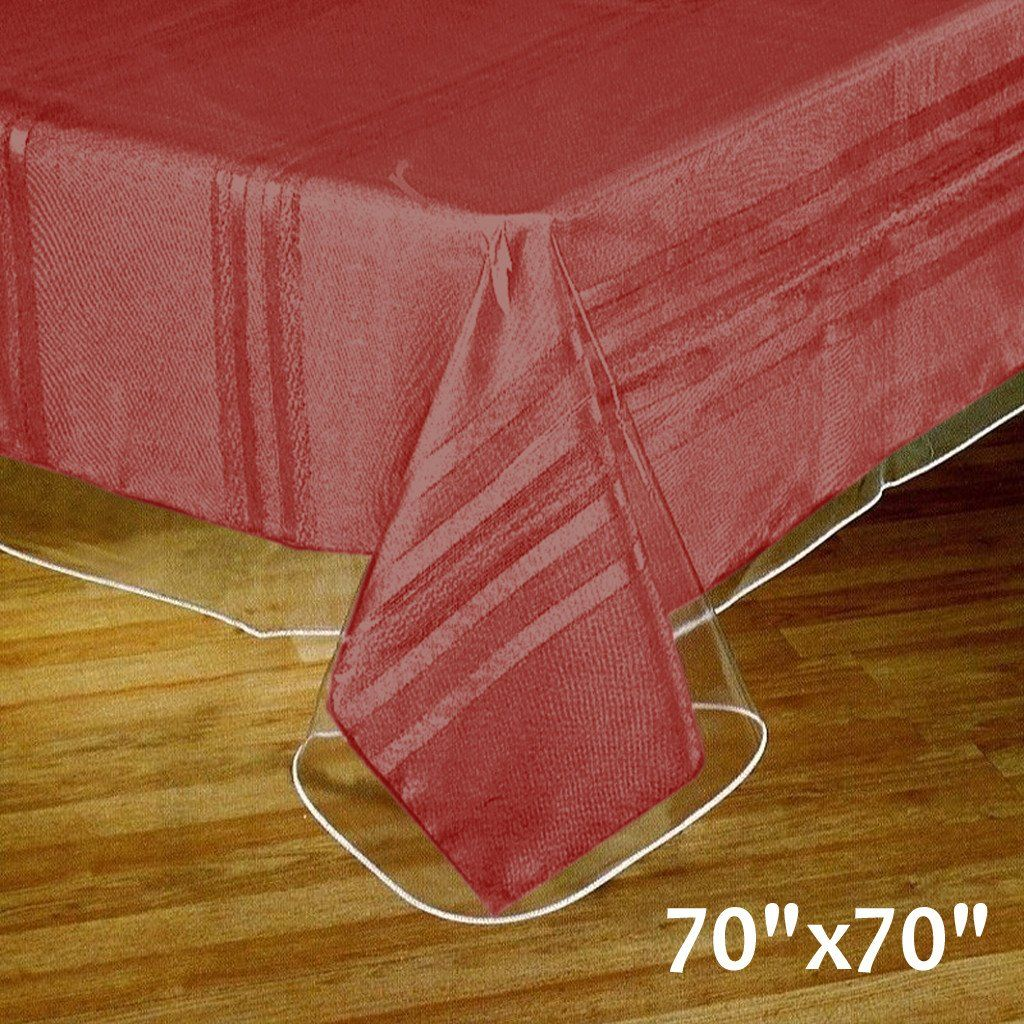 Thick Disposable Plastic Vinyl Picnic Banquet Tablecloth Protector Cover Clear 70 X70 Protect Your S Vinyl Tablecloth Waterproof Tablecloth Table Cloth