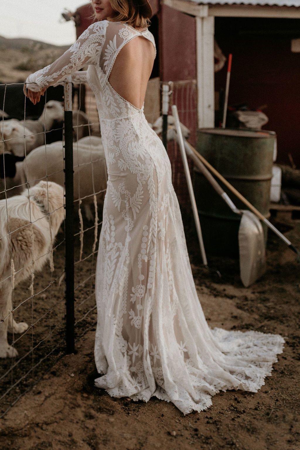 Willow Bohemian Lace Wedding Dress In 2020 Bohemian Wedding Dress Lace Wedding Dresses Lace Wedding Dresses