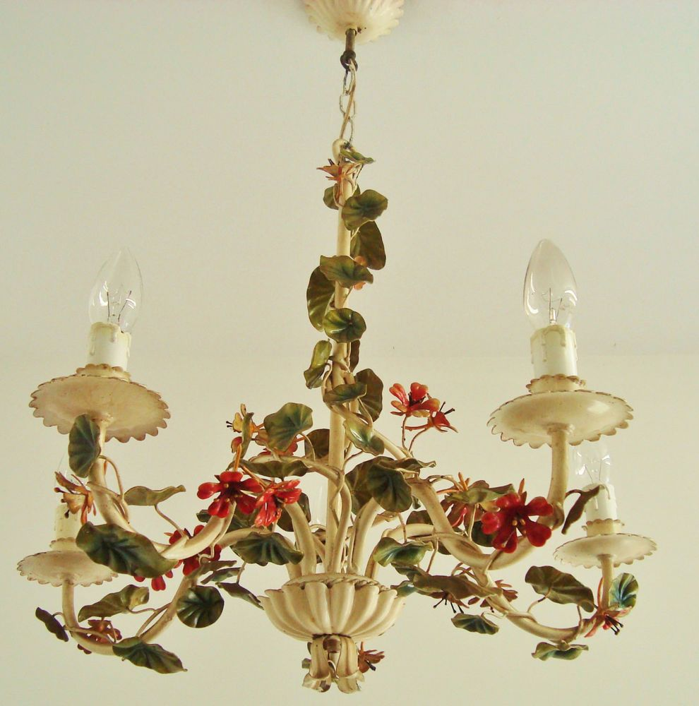 Ultimate shabby italian chic tole chandelier toleware light lamp ultimate shabby italian chic tole chandelier toleware light lamp climbing vine aloadofball Image collections