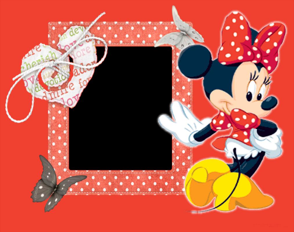 Aquí Les Dejo Unos Hermosos Marcos Para Fotos Gratis De Minnie Mouse