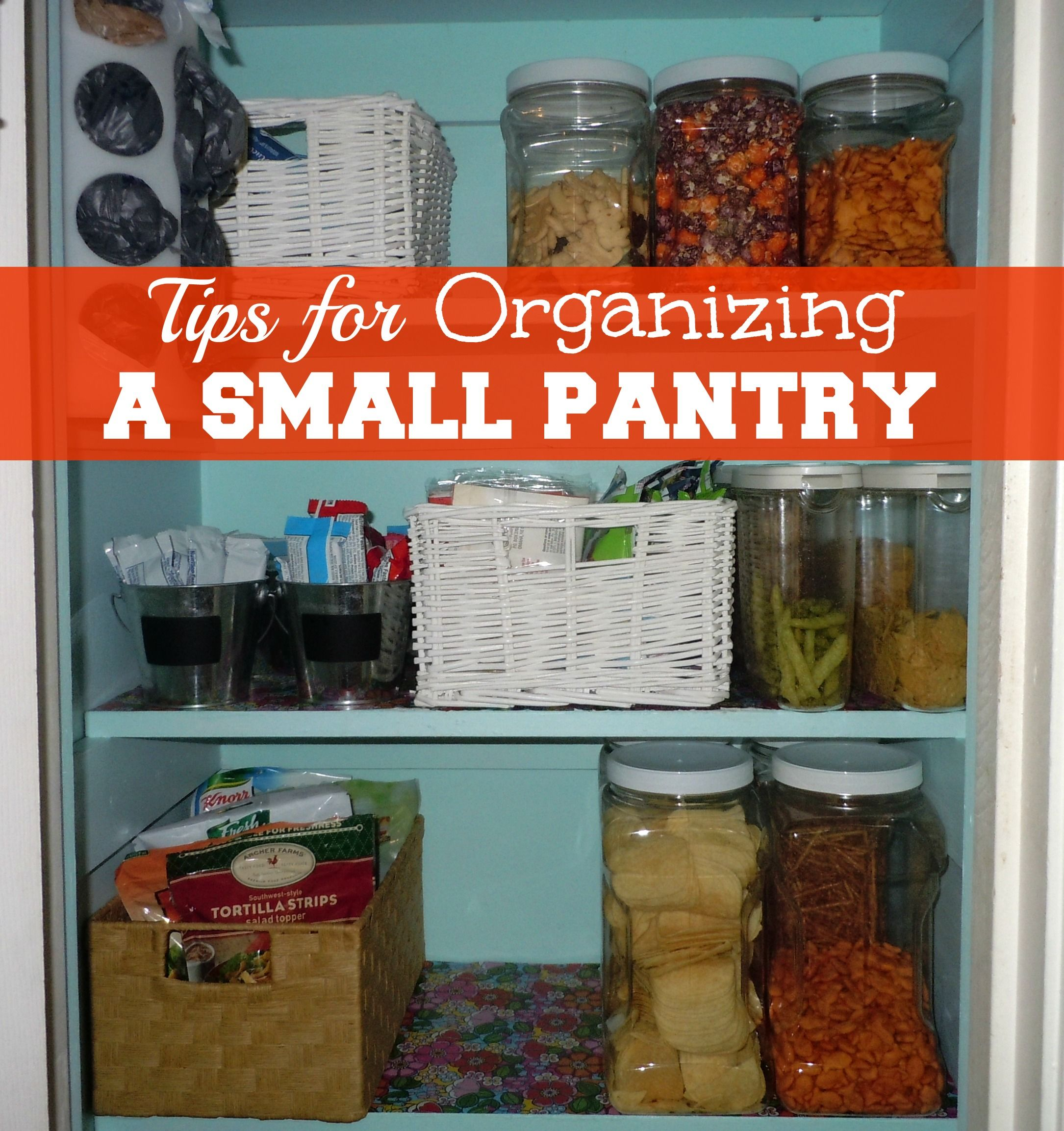 Tips For Organizing A Small Pantry