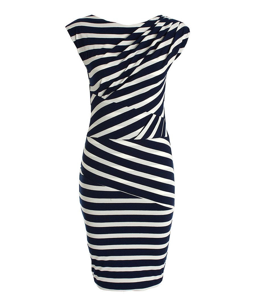 Look at this CeMe London Navy Blue Stripe Dulche Dress on #zulily today!