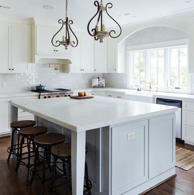 Grey Owl Kitchen: Benjamin Moore OC-52 Gray Owl. Soft Grey Paint Color