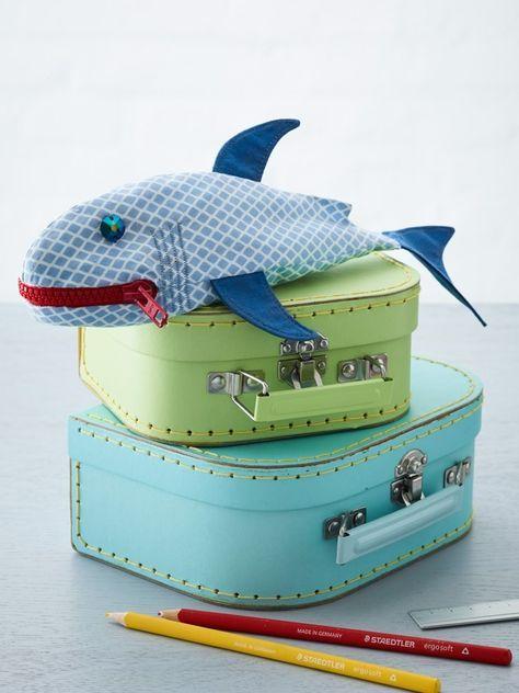 Haifisch-Mäppchen zum selber nähen | Easy Step-by-Step: Näh- und Bastelanleitung für alle DIY-Begeisterten