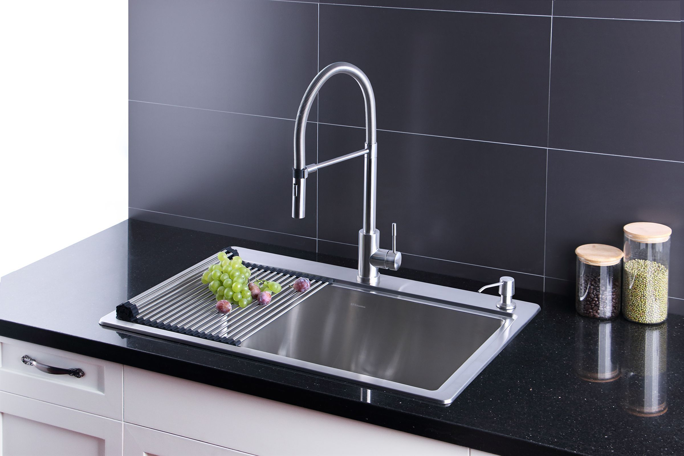 AFA Stainless 33inch Sink and Semi Pro Faucet Combo