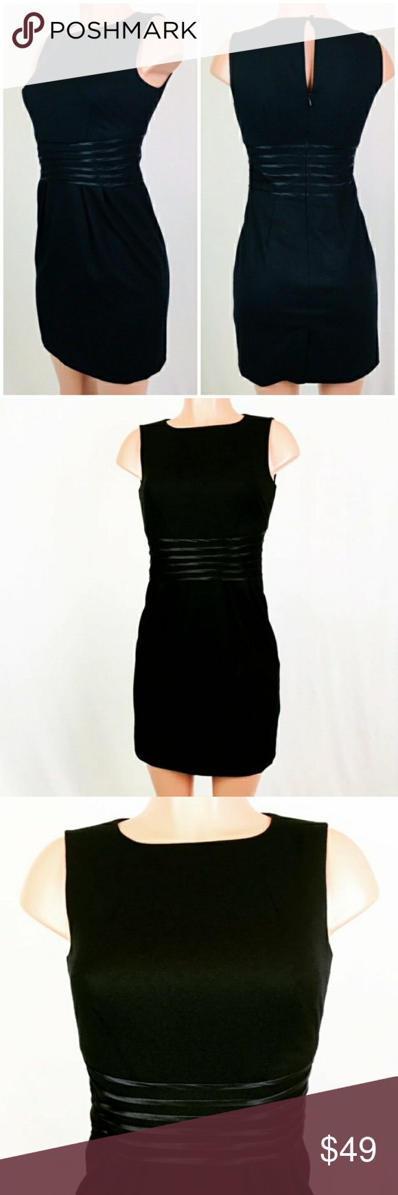 New Banana Republic dress sz 2P black color New Banana Republic dress women's sz 2P black color.   Approximate flat extended measures:  Armpit to armpit 17.5  Waist 14    Length 33 from shoulder.    Condition: Brand New. New. In excellent.    Smoke free home.    0232 Banana Republic Dresses Midi #blacksleevelessdress