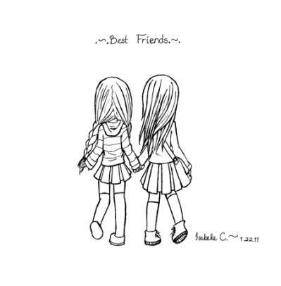 Cute Easy Drawings For Best Friends With Images Drawings Of