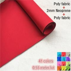 Neoprene Fabric Both Sides Coated Polyester Fabric 2mm Rubber T Cloth Rubber Sheet Colorful For Sports Swimsuit Diving Suits Fabric Neoprene Gingham Fabric
