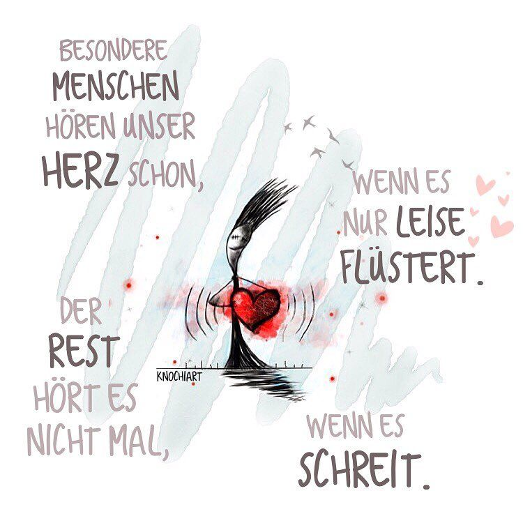 ️Besondere #Menschen Hören Unser #Herz Schon,wenn Es Nur