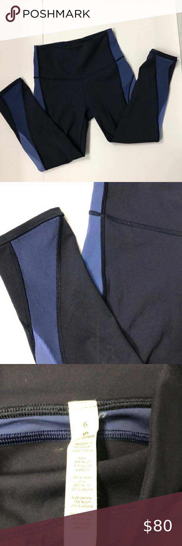 Lululemon blue and black leggings Check out this l