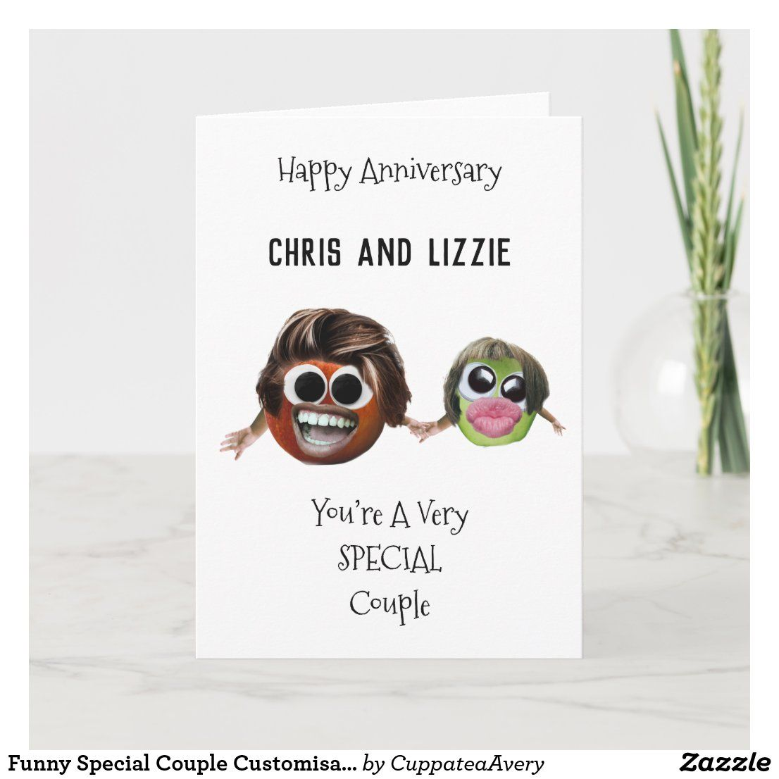 Funny Special Couple Customizable Anniversary Card Zazzle Com Funny Anniversary Cards Anniversary Cards Anniversary Funny