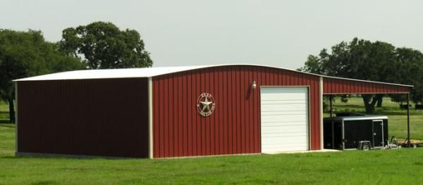 Texas Metal Building With Lean To Roof On The Side