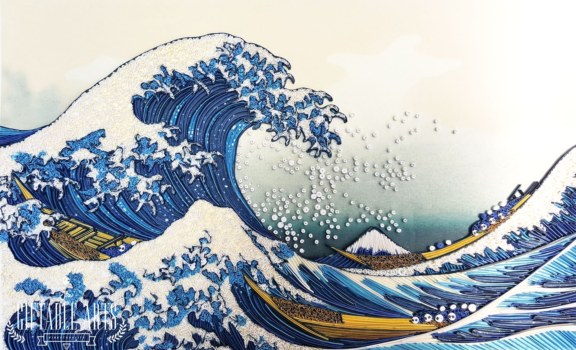 Top 20 Amazing Examples Of Paper Quilling Japanese Wave Painting Wave Painting Hokusai Great Wave