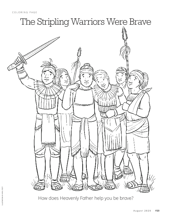 Lds Coloring Pages Stripling Warriors