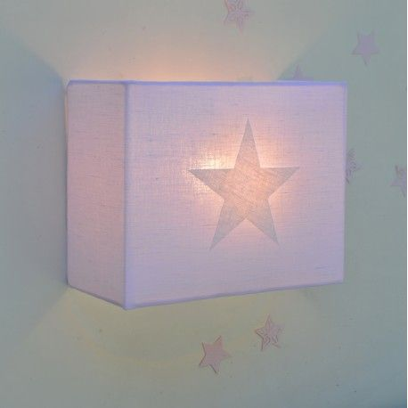 Lampara Infantil De Pared Estrella Aplique Applique Murale Etoile Start Wall Lamp Sconce Rosa Estrella Blanco Lamparas De Pared Apliques De Pared Lampara
