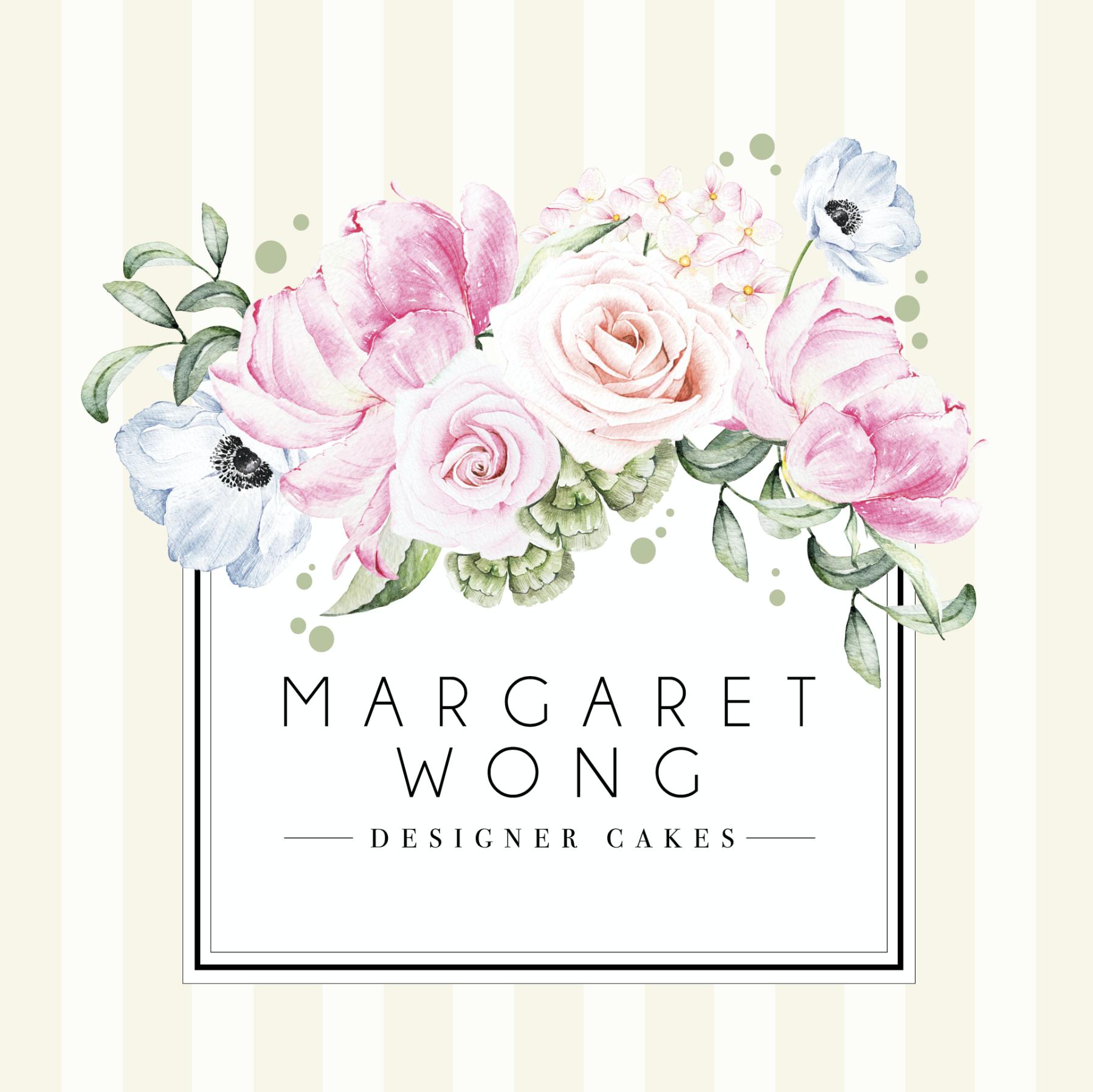 a logo design for margaret wong a cake designer from hong kong