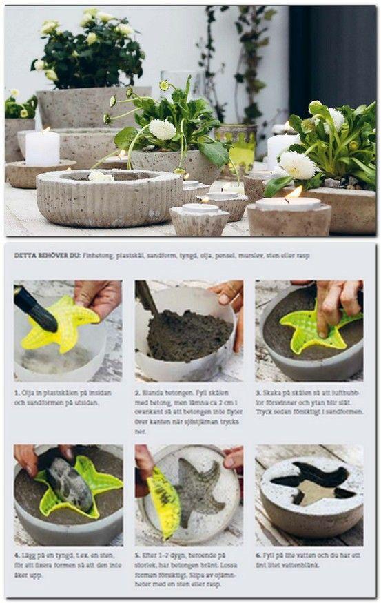 Macetero Cemento Diy Selber Machen Garten Zementpflanzbehalter Kreativbeton