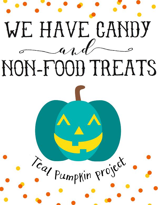 photo regarding Teal Pumpkin Printable titled Allergy-Protected Teal Pumpkin Task Halloween Absolutely free Printables