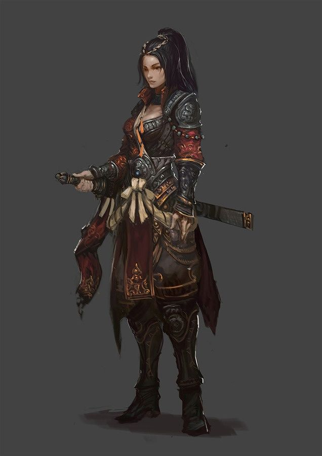 Sekigan 1 Female Armor Character Art Female Armor