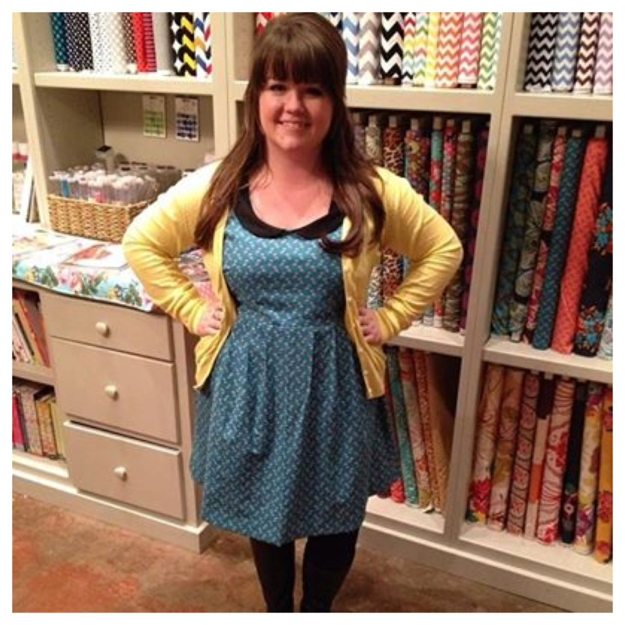 washi dress, thread fabric store, made by rae, anna maria horner dowry