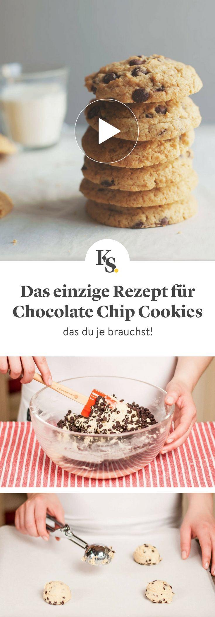 #cookies #kekse #chocolatechipcookies  Es gibt viele Rezepte für die perfekten Chocolatechip Cookies auf Pinterest, aber dieses hier ist das beste und das einzige, das du je brauchen wirst! Überzeuge dich selbst! #chocolatechipcookiedough