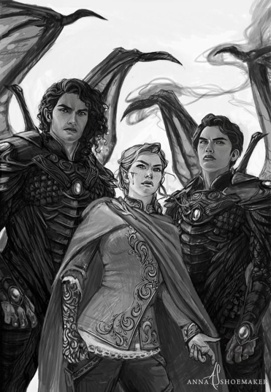Feyre Cassian And Azriel In A Court Of Wings And Ruin With