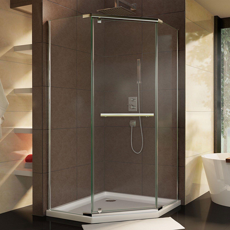 Dreamline Prism 34 18 In D X 34 18 In W Frameless Pivot Shower