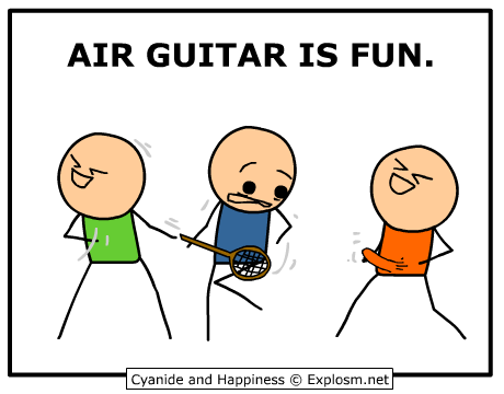 Cyanide Happiness Explosm Net Cyanide And Happiness Air Guitar Silly Jokes