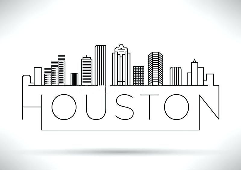 Houston Skyline Pencil Vector Google Search Houston Skyline City Outline City Drawing